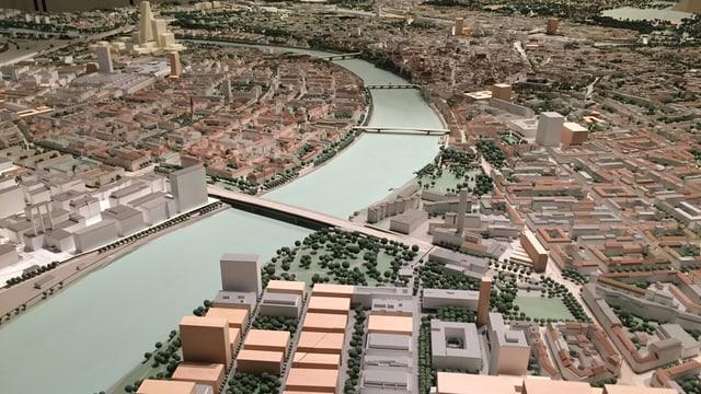 Stadtmodell Basel, Blick über die Stadt