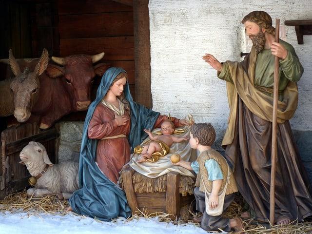 Die Krippe mit der Geburt von Jesus