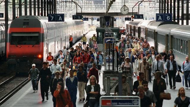 Pendlerströme am Bahnhof Luzern
