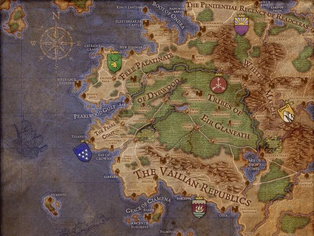 Eine Karte von Eora.