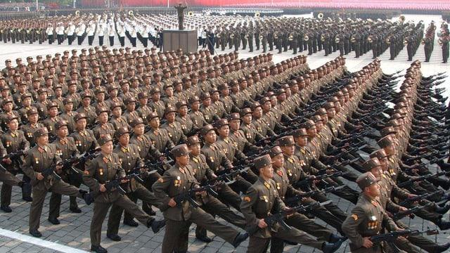 Eine Militärparade in Nordkorea.