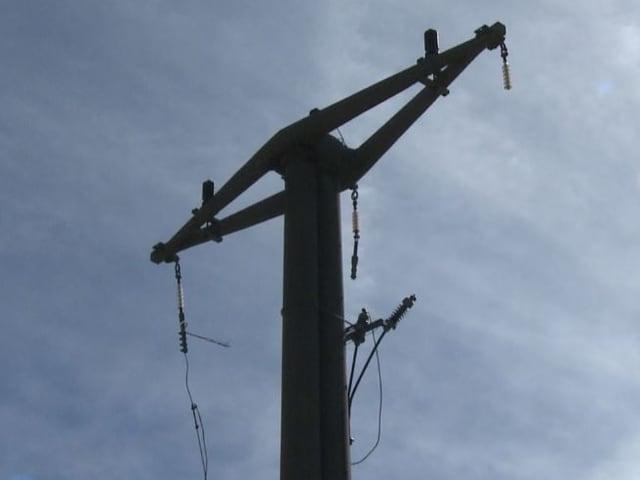 Defekte Stromleitung