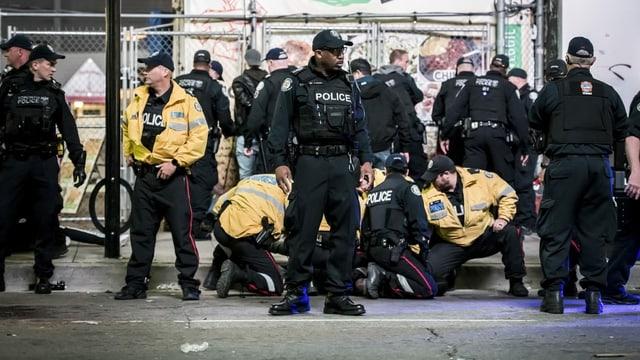 Polizisten im Einsatz in Toronto