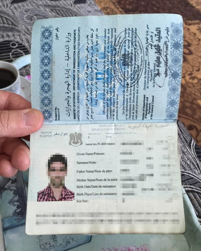 Ein syrischer Reisepass
