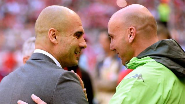 Pep Guardiola und Andre Schubert.