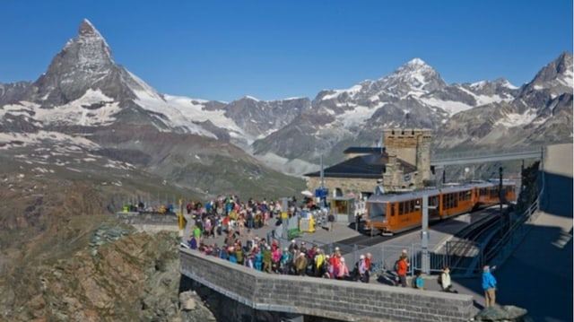 Purtret dal Gornergrat cun il Matterhorn.