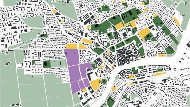 Planskizze der Stadt Solothurn.