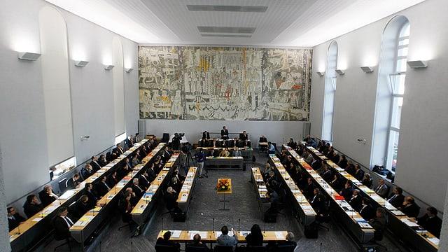 Einblick in den Grossen Rat in Chur.