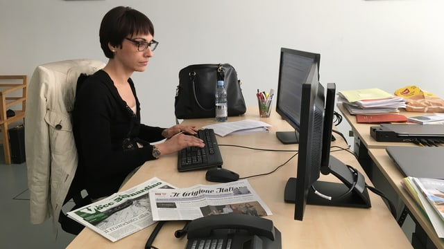 eine Frau am Computer.