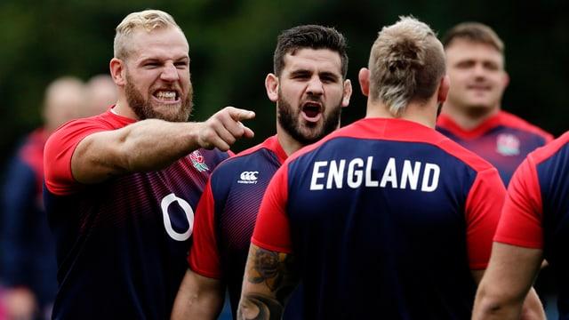 Englands Rugby-Spieler im Training.