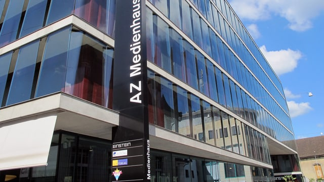 Blick auf das AZ Medienhaus in Aarau, wo Radio Argovia seine Studios hat.