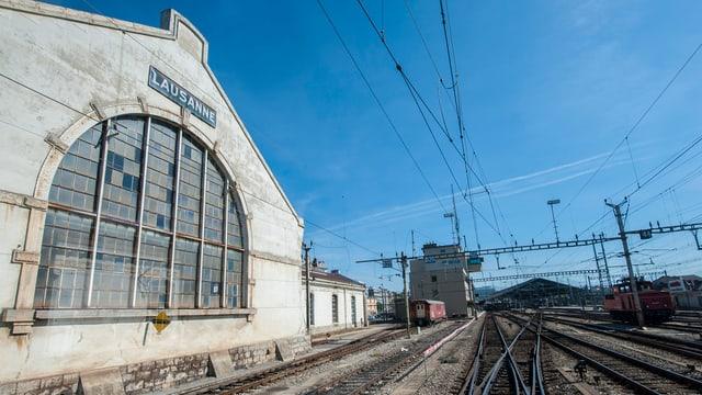 La staziun da la SBB a Losanna.