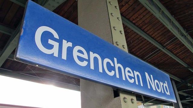 Bahnhofschild Grenchen Nord
