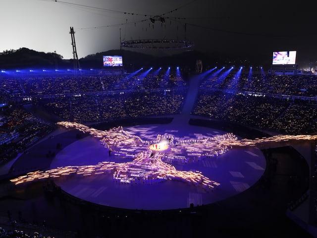 Lichteffekte im Stadion