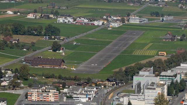 Blick auf die Landepiste in Kägiswil.