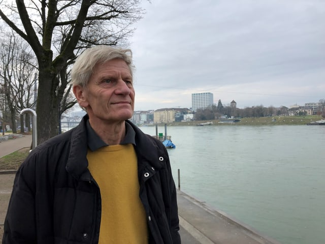 Ambros Isler am Rhein
