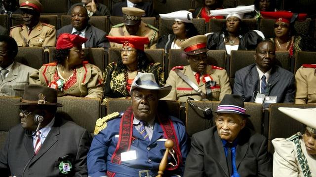 Delegation aus Namibia, dass 2011 sich mit den Deutschen Gräueltaten auseina
