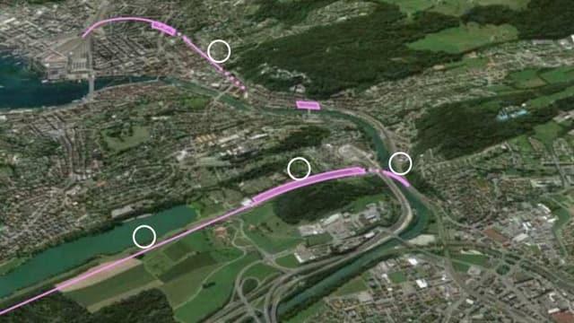 Pläne des Vereins Bahndreieck Nord