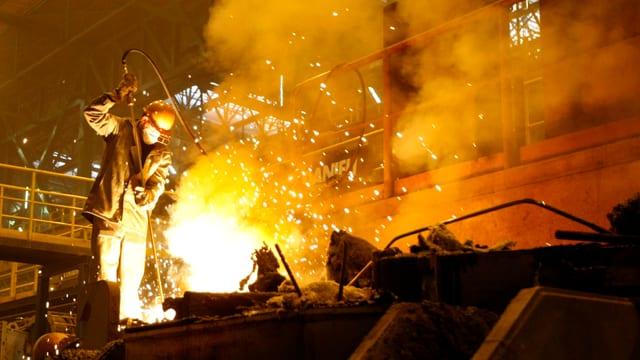 Auch heute spielt die Eisenindustrie in Dnjepropetrowsk noch eine wichtige Rolle.