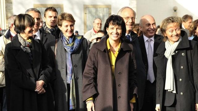 Der Bundesrat von 2010 in einer Gruppenaufnahme