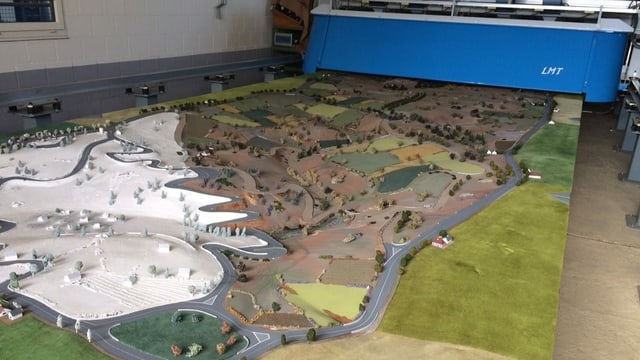 Modell Landschaft