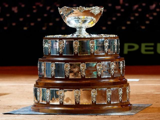 Die Davis-Cup-Trophäe in voller Grösse.