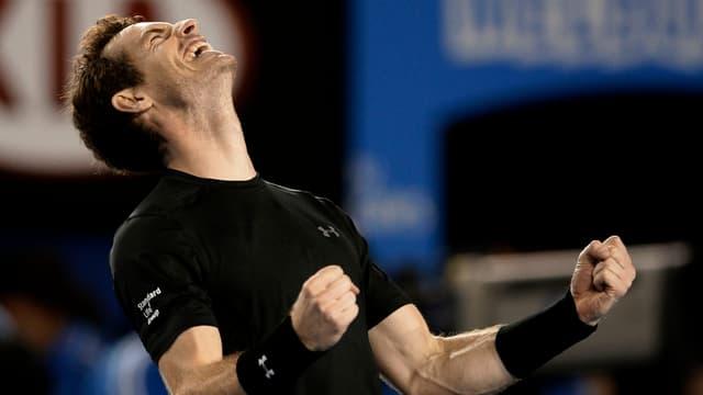 Murray jubelt über seinen Sieg.