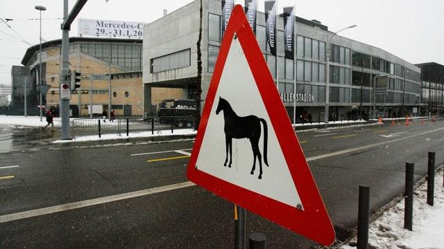 Hinweisschild Pferd
