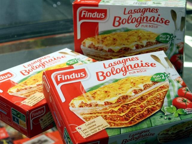 Drei Packungen Findus Lasagne