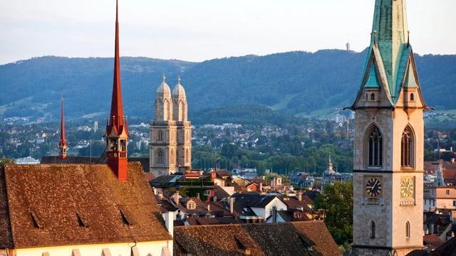 Die Kirchtürme in der Stadt Zürich
