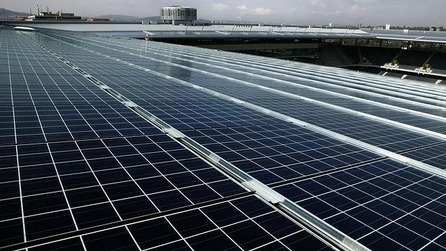 Solaranlage auf dem Stade de Suisse Wankdorf.