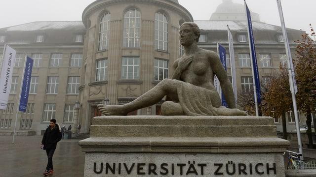 Eingangsportal der Universität Zürich.