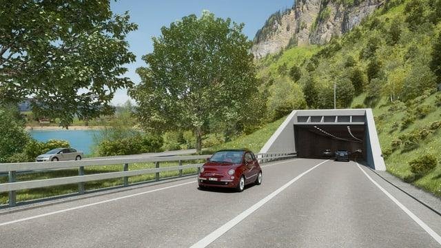 Visualisierung des Tunnelportals.