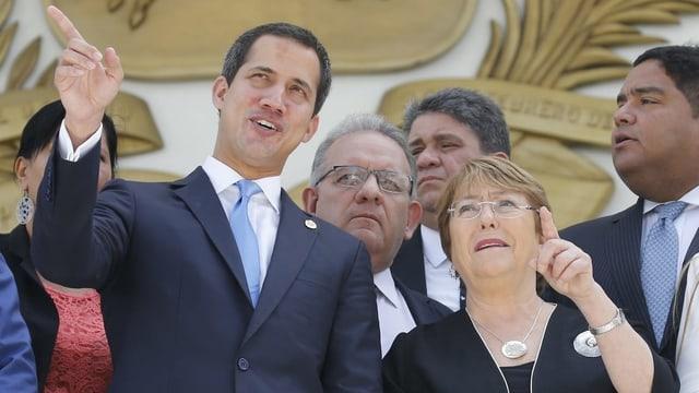 Juan Guaidó und Michelle Bachelet