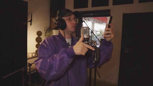 Rapper macht Aufnahmen