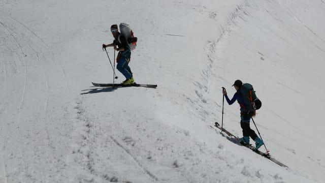 Zwei Skitourengänger.