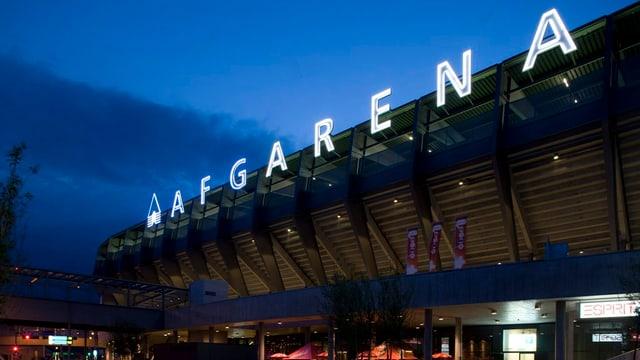 Der Name «AFG-Arena» leuchtet nur noch bis 2018 über dem Heimstadion des FC St. Gallen.