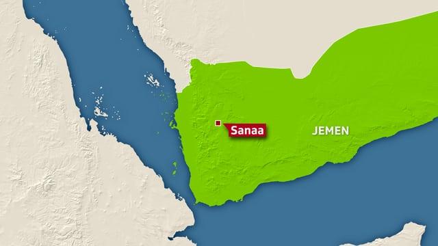 Landkarte vom Jemen.