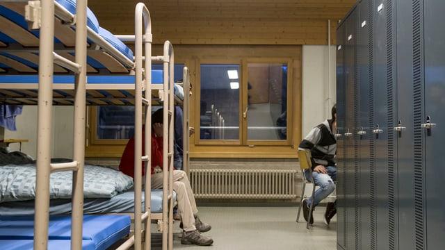 L'intern d'ina chombra da durmir en il center d'asil Glaubenberg.