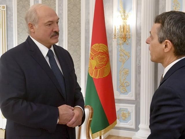 Lukaschenko und Cassis
