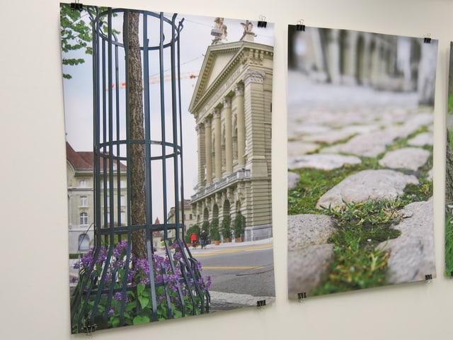 Zwei Fotos aus der Ausstellung