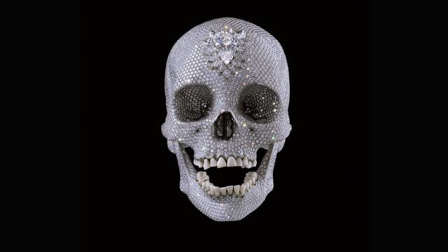 Kristall-Totenschädel von Damian Hirst.