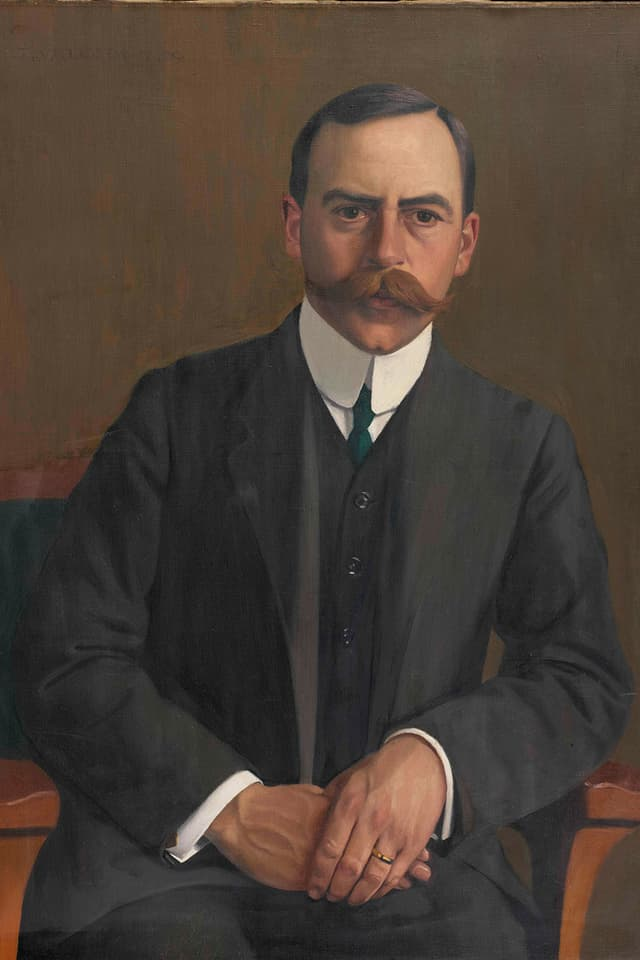 Arthur Hahnloser: Portrait von Félix-Edouard Valloton (1909)