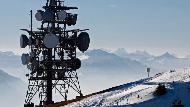 Sendeanlagen auf dem Niederhorn