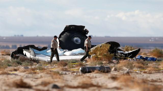 Wrackteile der abgestürzten Raumfähre SpaceShipTwo