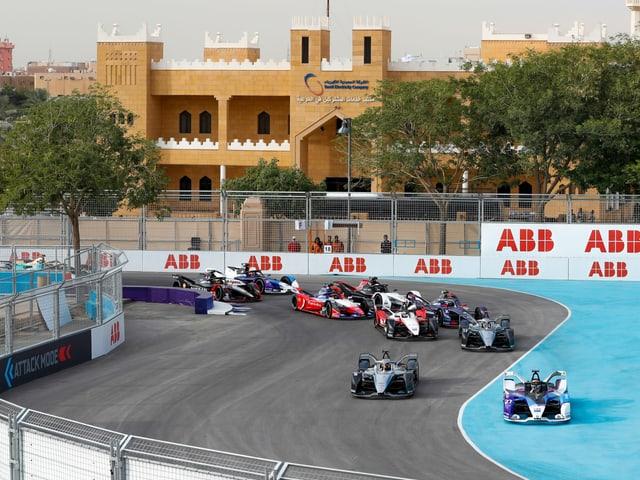Die Formel E ist zu Gast in Saudi-Arabien.