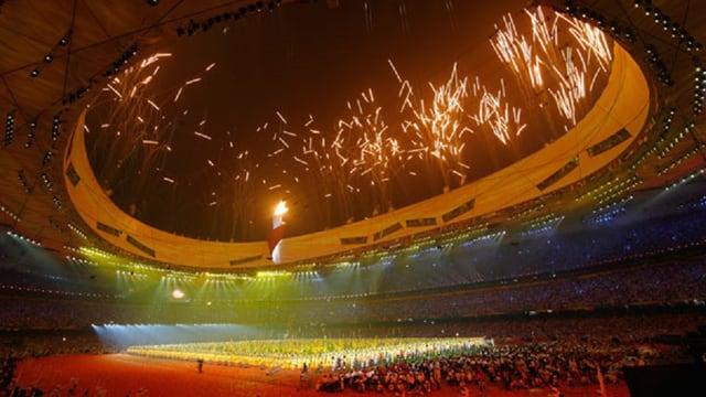 Avertura dals gieus olimpics a Bejing.