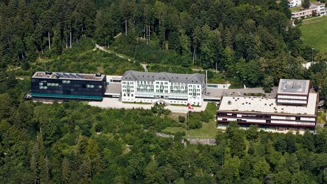 Luftaufnahme des Sportzentrums Magglingen.
