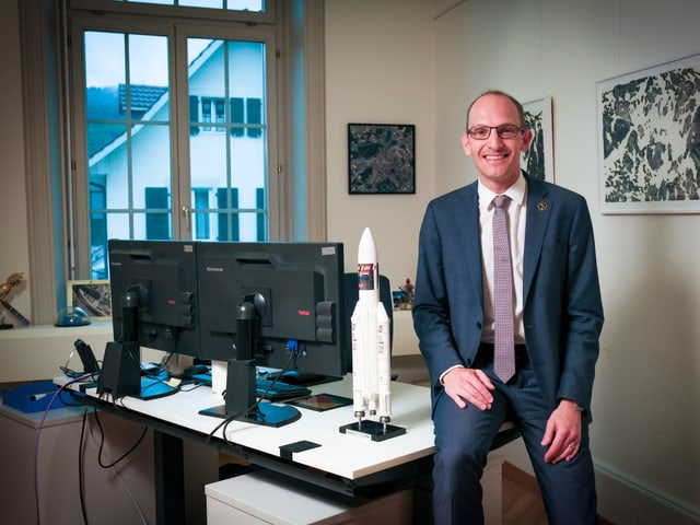 Renato Krpoun, il schef dal Swiss Space Office a Berna.