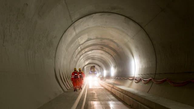 Il tunnel da basa dal Gotthard.